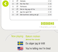 The Riddarna Translator App on Spotify