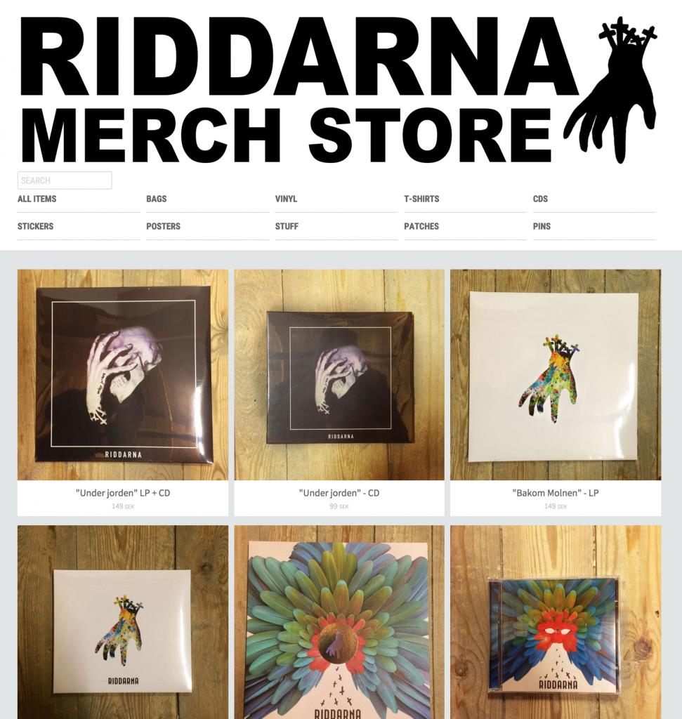 Riddarna online merch store